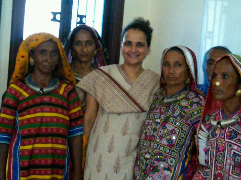 DrK with women from Bhuj